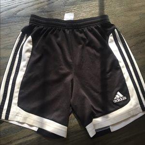 Adidas Boys Girls Soccer Shorts 3 stripe Small 5/6
